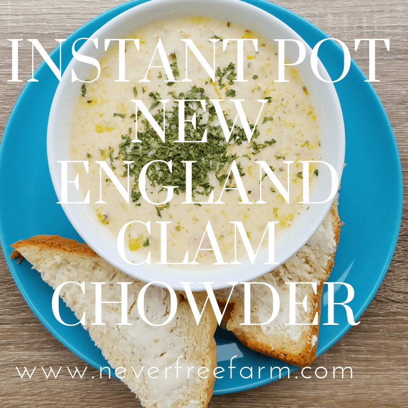 Instant Pot New England Clam Chowder